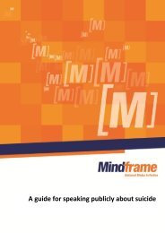 A guide for speaking publicly about suicide - Mindframe