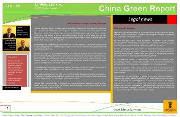 China Green Report - Lehman, Lee & Xu