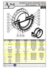 Butterfly Valve - Flanged Type - DIN-BS PN10-40 - art. B01.cdr - AVM