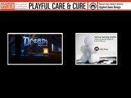PLAYFUL CARE & CURE - GATE | Game research for training and ...