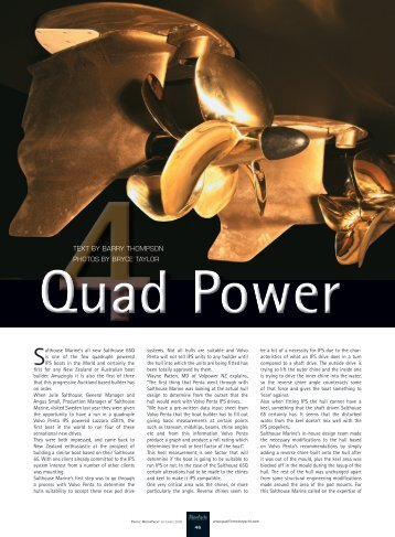 Salthouse 65Q; Pacific Motor Yacht Magazine - Quad Power Part 1
