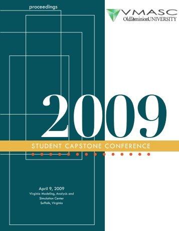 2009 Student Capstone Proceedings - the Virginia Modeling ...