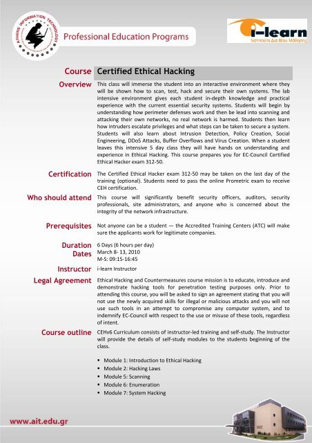 Course Certified Ethical Hacking
