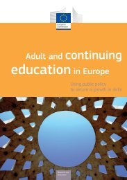 Adult and continuing education in Europe - European Commission