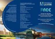Accommodation Forum for Access and Continuing Education