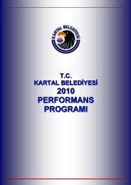 2010 yılı Performans Programı - Kartal Belediyesi
