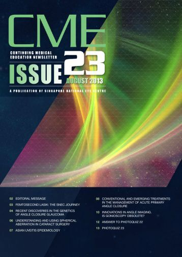 CME Newsletter August Issue - Singapore National Eye Centre