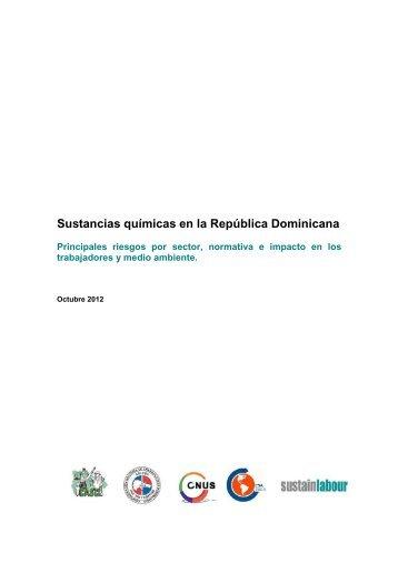 Sustancias químicas en la República Dominicana - Sustainlabour