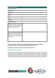 Formulario curso riesgo químico - Sustainlabour