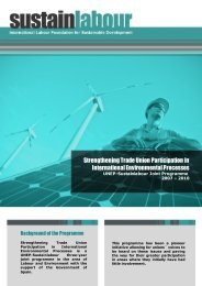 Strengthening Trade Union Participation in ... - Sustainlabour