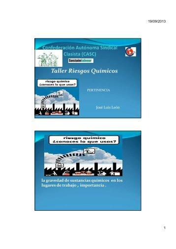 Taller Riesgos Químicos - Sustainlabour