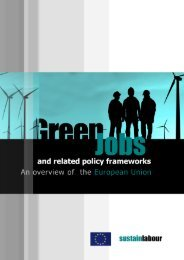 Green Jobs and related policy frameworks. An ... - Sustainlabour