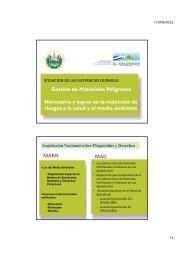 Gestión de Materiales Peligrosos Normativa y logros ... - Sustainlabour