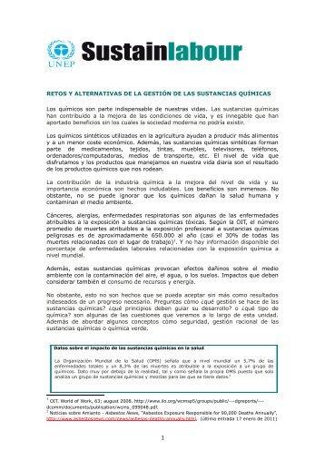 RETOS Y ALTERNATIVAS DE LA GESTIÓN DE LAS ... - Sustainlabour