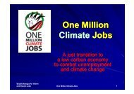 One Million Climate Jobs Climate Jobs - Sustainlabour