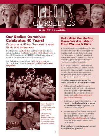 Winter 2011/ 2012 Newsletter - Our Bodies Ourselves