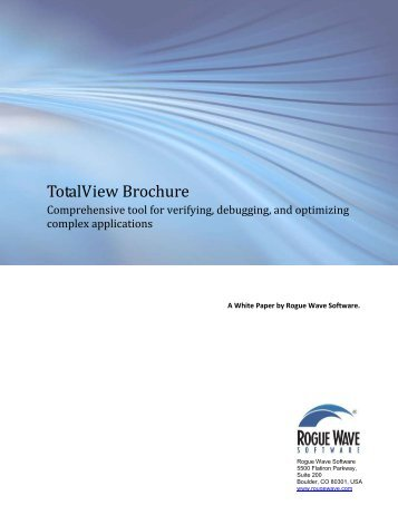 TotalView Brochure - Rogue Wave Software
