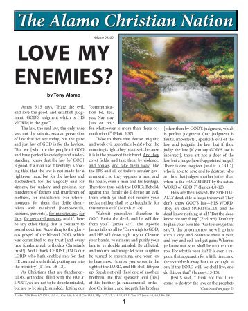 Love My Enemies? - Tony Alamo Christian Ministries