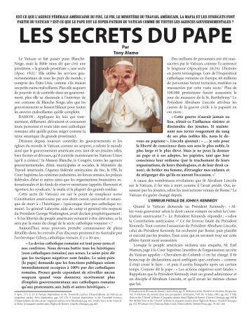 LES SECRETS DU PAPE - Tony Alamo Christian Ministries