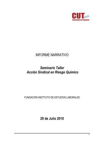 INFORME NARRATIVO Seminario Taller Acción ... - Sustainlabour