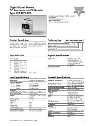 Digital Panel Meters DC Ammeter and Voltmeter Type DI3-DIN AV6