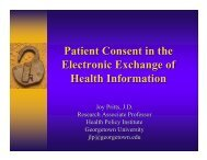 Patient Consent in the Electronic Exchange of Health Information