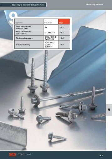 Fastening to steel and timber structure Self drilling fasteners ... - EPRO