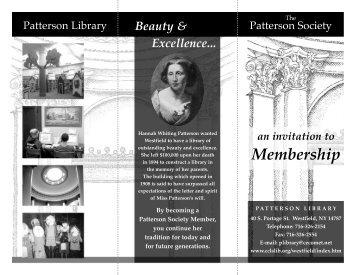 membership brochure - Patterson Library