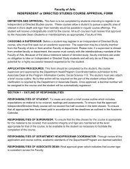 Independent Study Form - Department of Music - University of Calgary