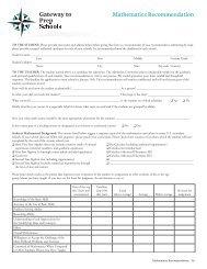 Math Teacher Recommendation - The Putney School