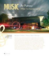 Music at Putney - The Putney School