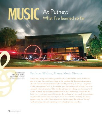 Music at Putney - The Putney School
