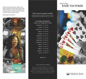 How to play RAISE 'EM POKER - Tsogo Sun