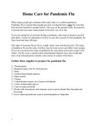 Home Care for Pandemic Flu