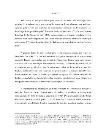 Anexo I - Escola de Direito de São Paulo