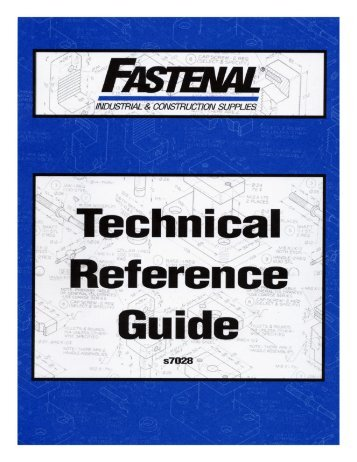 Technical Reference Guide - Fastenal