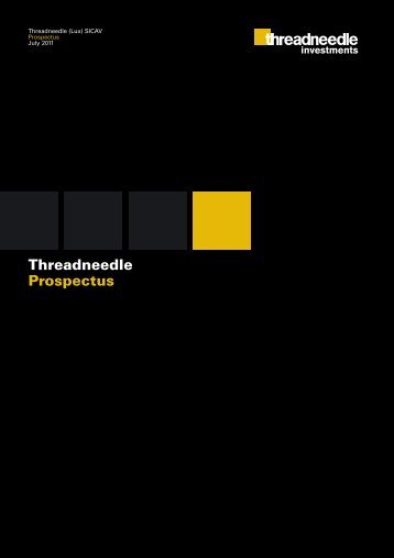 Threadneedle Prospectus - Threadneedle Investments