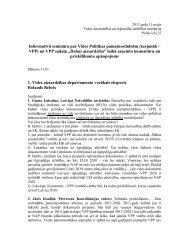 Semināra piezīmes - Vides ministrija