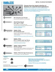 Metal Building & Metal Roofing_NIN Line ... - Triangle Fastener