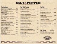 Salt - Pepper Menu - MainMenus.com