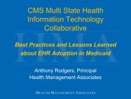 CMS Multi State Health Information Technology ... - Blsmeetings.net
