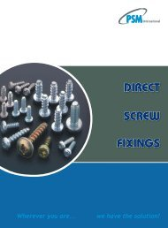 DIRECT SCREW FIXINGS - RGA and PSM Fasteners