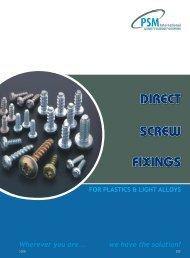 DIRECT SCREW FIXINGS - RGA and PSM Fasteners