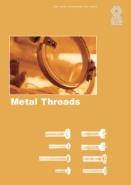 Metal Threads - RGA and PSM Fasteners