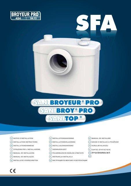 Sanibroy Pro Sanibroyeur Pro Sanitop Koupelny Sen