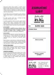 ELIZ navod 2012 EURO 65D CZ.qxd - nejlevnejsiTZB.cz
