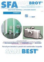 Návod pro instalaci a používání sanitárního čerpadla - Koupelny SEN