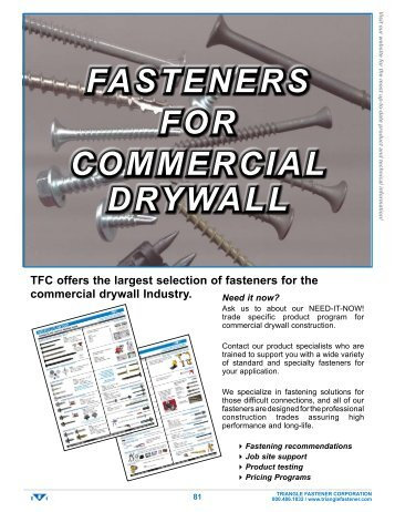Drywall Screws - Triangle Fastener