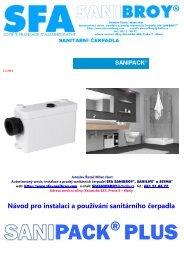 Návod pro instalaci a používání sanitárního čerpadla - SFA ...