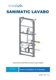 notice sanimatic lavabo - Sanilife